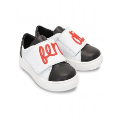 FENDI KIDS Logo Leather...