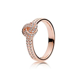 Sparkling Love Knot Ring,...